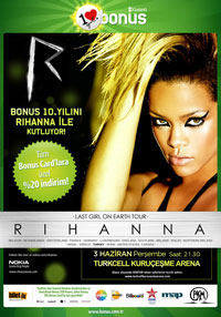 Rihanna büyüleyecek Arena inleyecek!